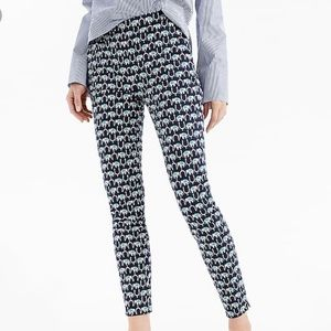 JCrew Mattie Crop - Elephant print